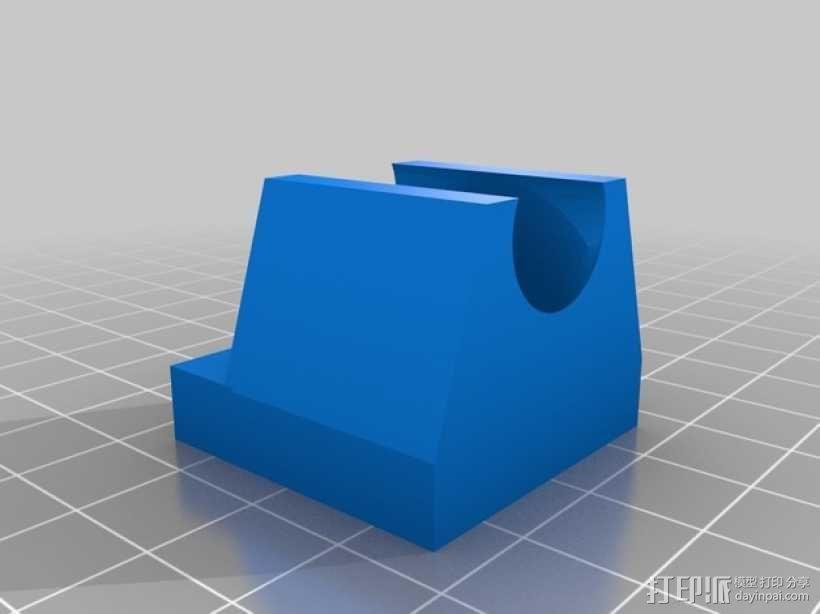 打印机喷头风扇罩 3D模型  图2