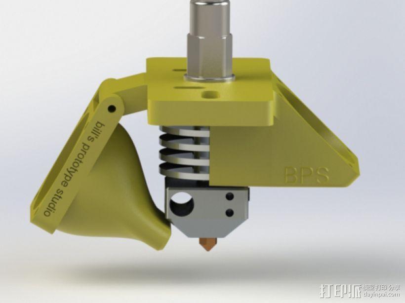 挤出机适配器 风扇支架 3D模型  图1