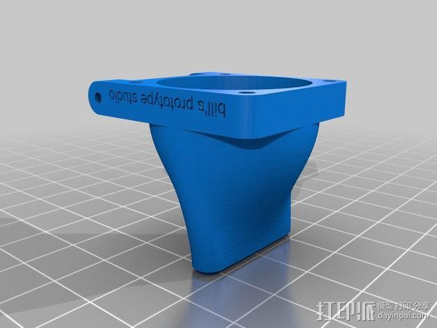 挤出机适配器 风扇支架 3D模型  图2