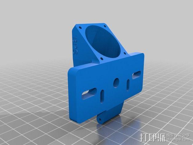 挤出机适配器 风扇支架 3D模型  图3