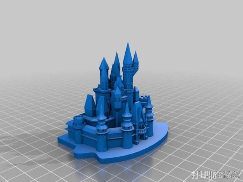灰姑娘城堡 3D模型  图1