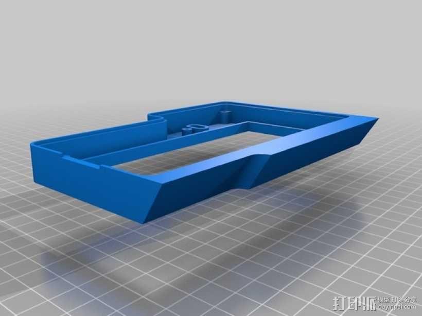 控制器显示屏外框 3D模型  图3