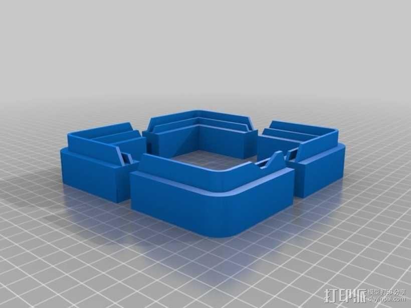 控制器显示屏外框 3D模型  图6