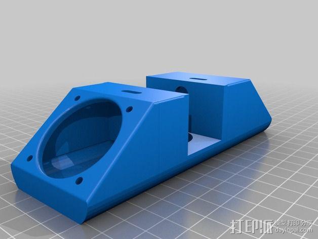greg wade挤出机风扇支架 3D模型  图4