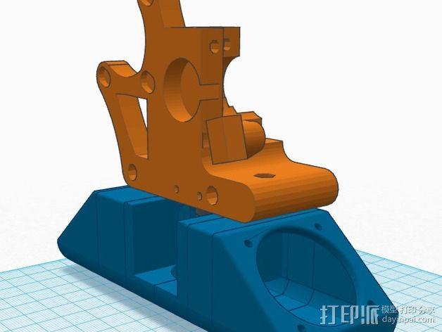 greg wade挤出机风扇支架 3D模型  图3