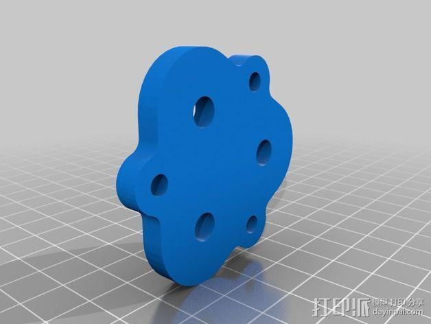 BPS 挤出机适配器 3D模型  图2