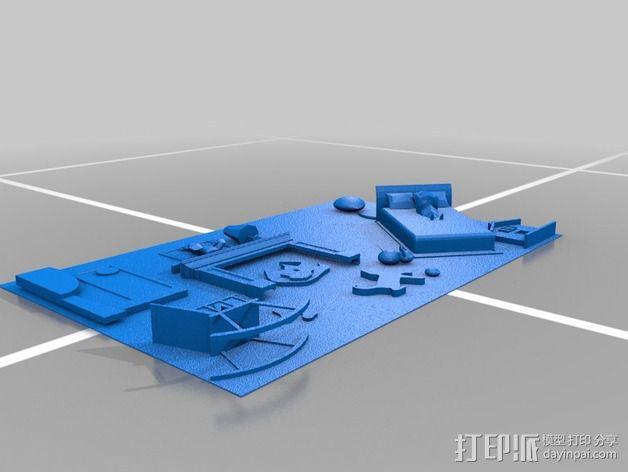 图案触摸板 3D模型  图4