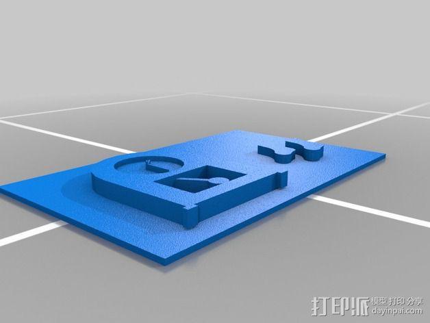 图案触摸板 3D模型  图7