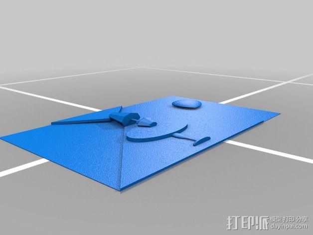 图案触摸板 3D模型  图9