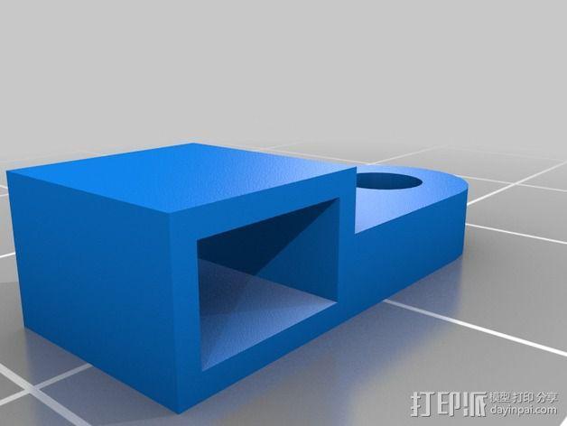 打印机液晶显示屏支架 3D模型  图2