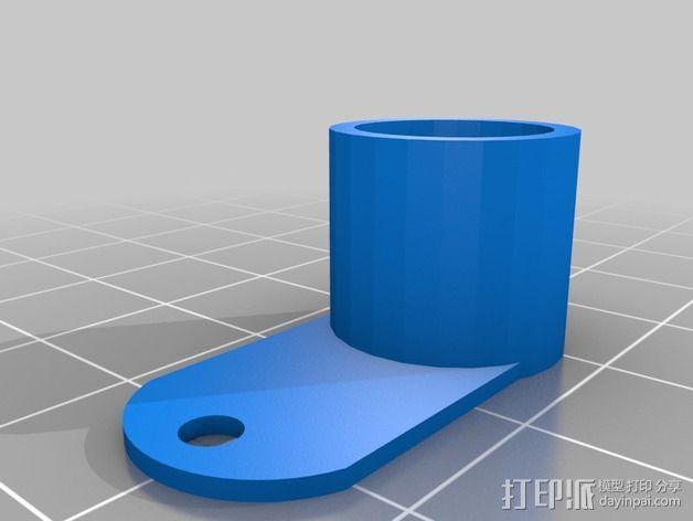 打印机液晶显示屏支架 3D模型  图4