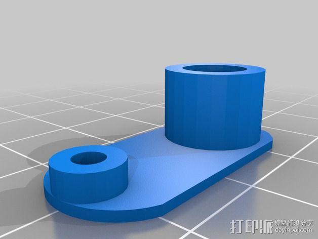 打印机液晶显示屏支架 3D模型  图3