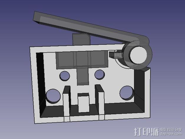 限位开关 3D模型  图2