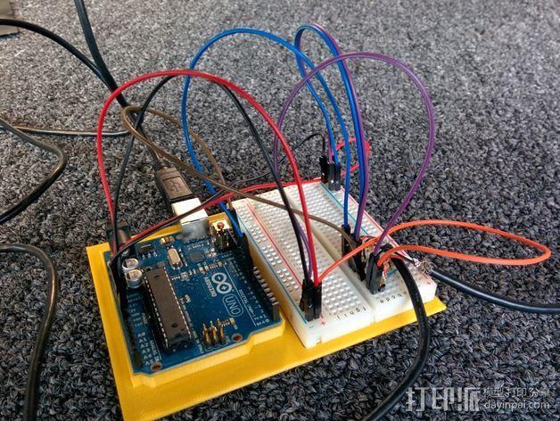 电路板适配器 电路面板 3D模型  图1