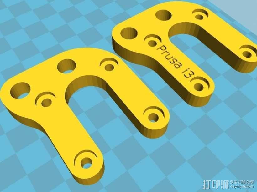Prusa i3打印机Y轴马达支架 3D模型  图1