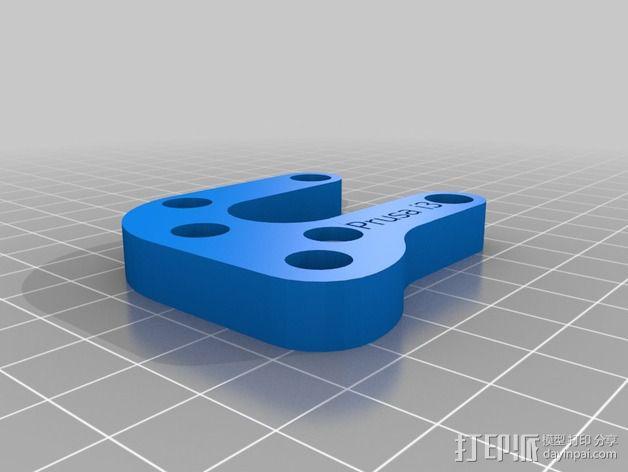 Prusa i3打印机Y轴马达支架 3D模型  图2