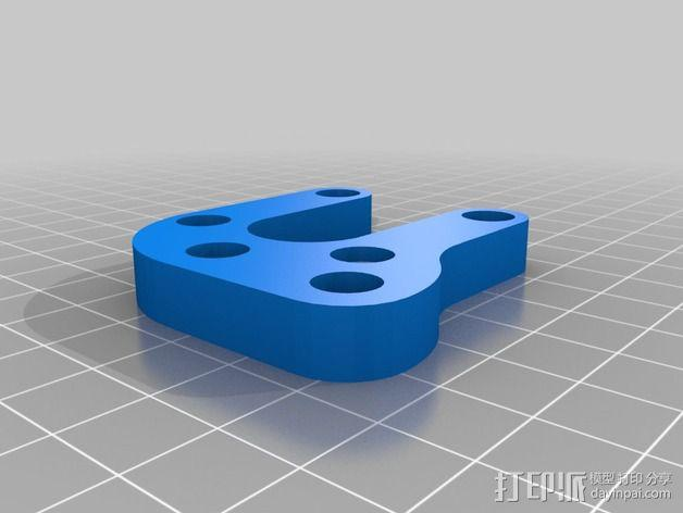 Prusa i3打印机Y轴马达支架 3D模型  图3