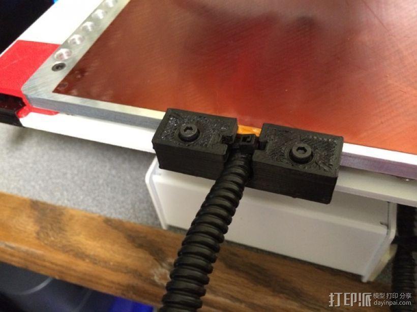 电缆溢放口 3D模型  图1