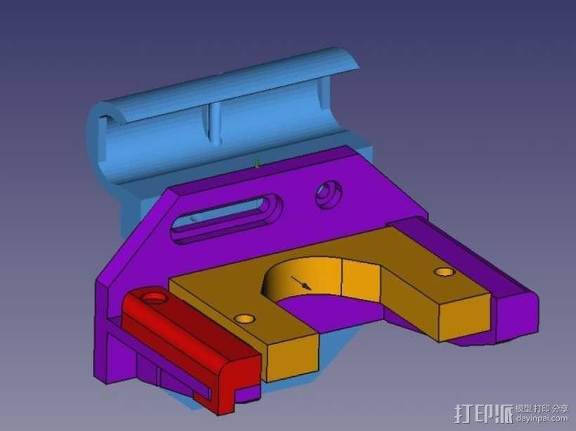 Prusa i3打印机连接器支架 3D模型  图5