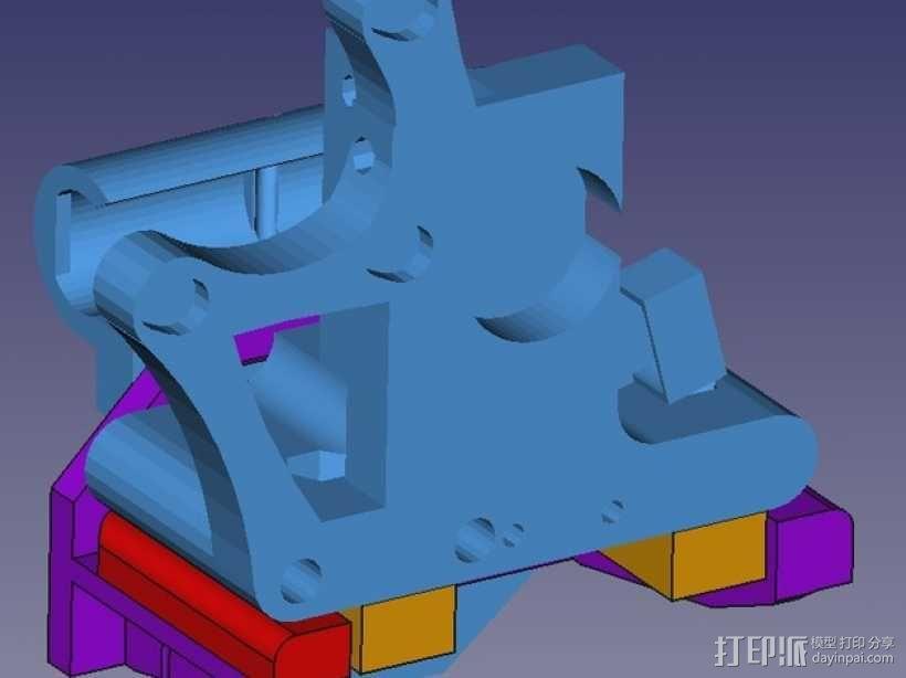 Prusa i3打印机连接器支架 3D模型  图6