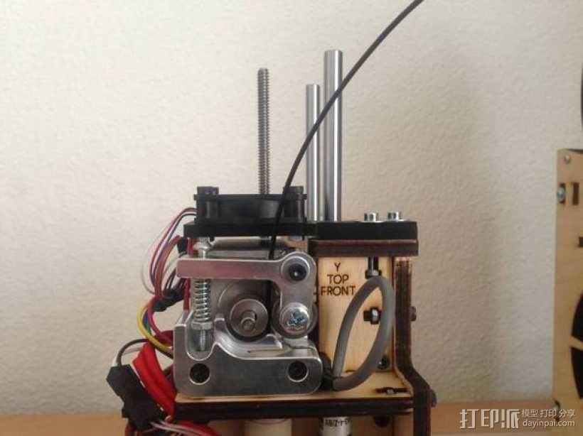 Printrbot打印机挤出机风扇支架框 3D模型  图2