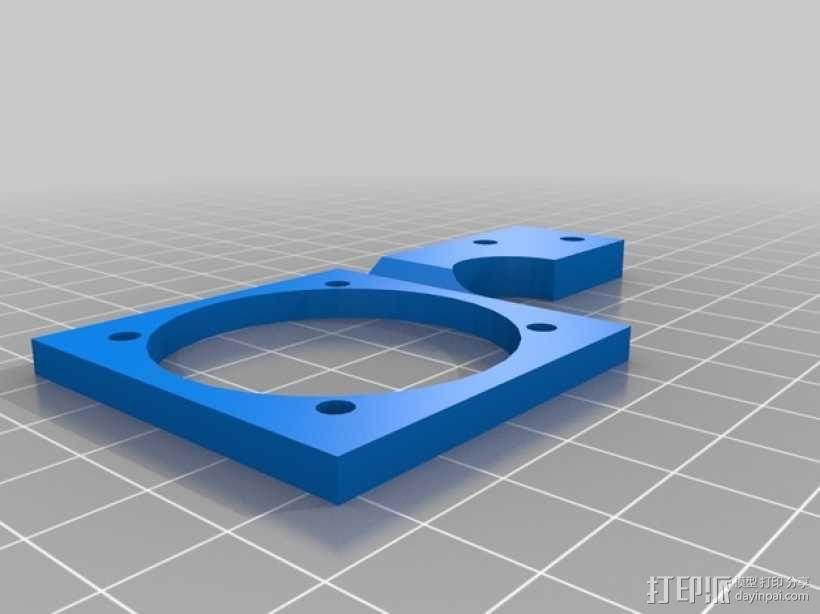 Printrbot打印机挤出机风扇支架框 3D模型  图1