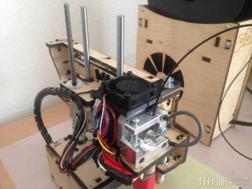 Printrbot打印机挤出机风扇支架框 3D模型  图3