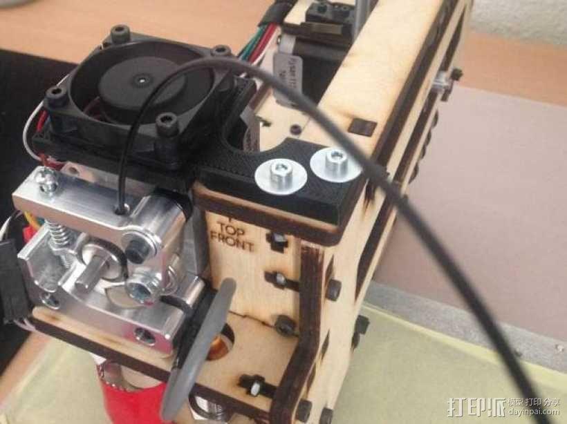 Printrbot打印机挤出机风扇支架框 3D模型  图4