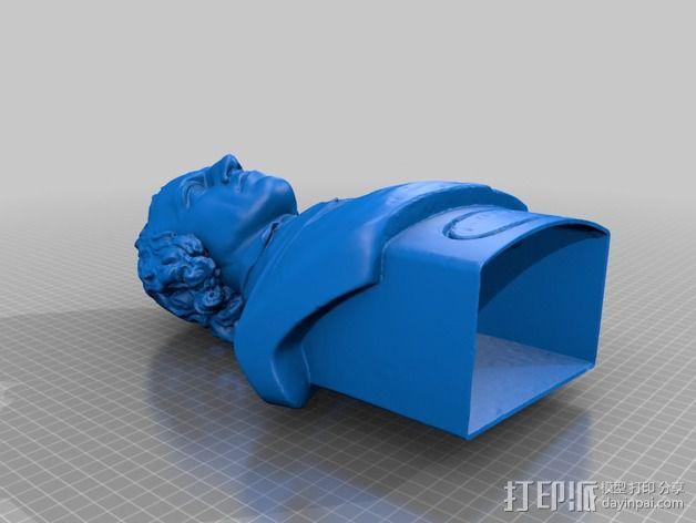 Alfred Tennyson丁尼生半生雕塑 3D模型  图2