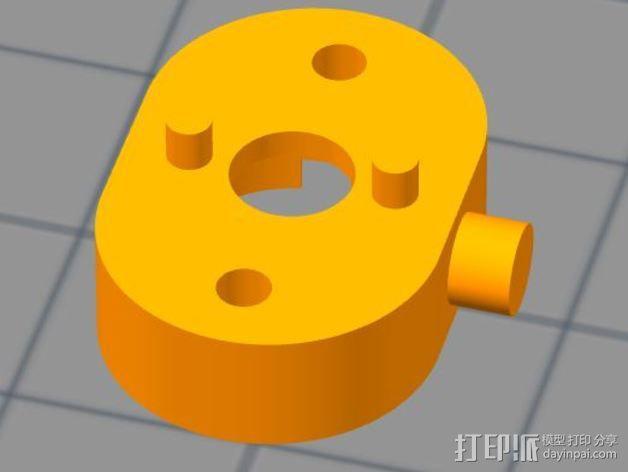 传动轴支架 3D模型  图1