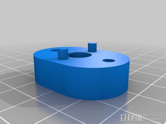 传动轴支架 3D模型  图2