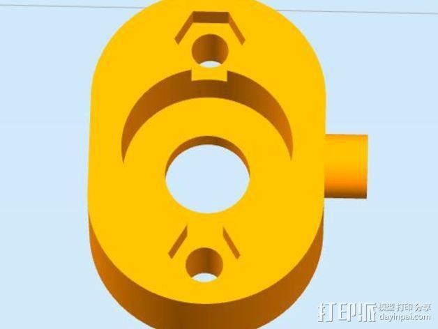 传动轴支架 3D模型  图3