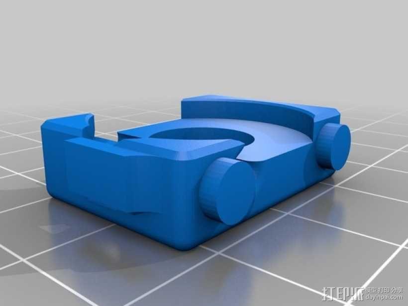 迷你型挤出机线材导线器 3D模型  图1