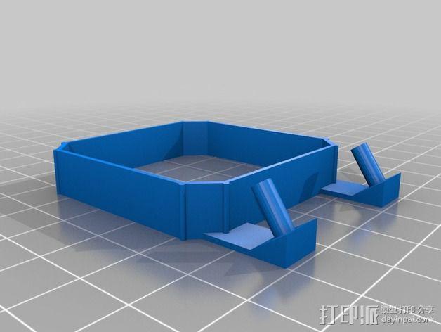 qu-bd oneup打印机风扇支架 3D模型  图3