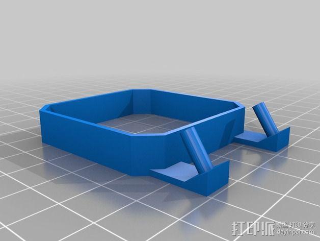 qu-bd oneup打印机风扇支架 3D模型  图2