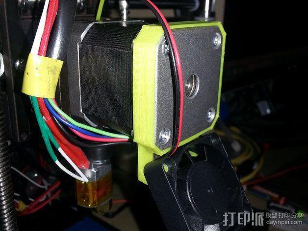 qu-bd oneup打印机风扇支架 3D模型  图1