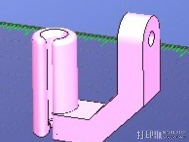 线材导线器 线材清洁器 3D模型  图3