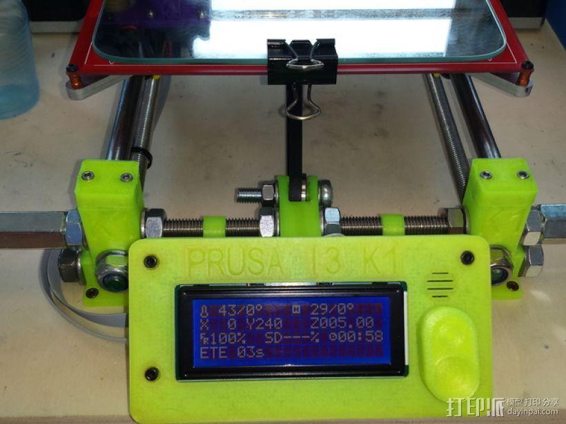 Prusa I3 打印机液晶显示屏支架 3D模型  图1