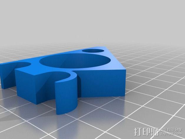 Prusa I3 打印机液晶显示屏支架 3D模型  图9