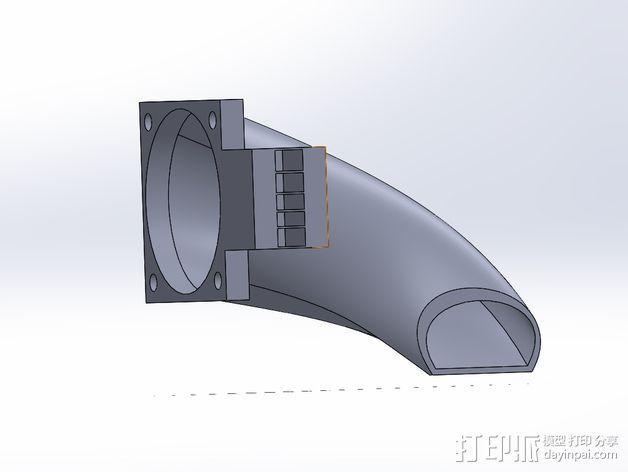 风扇支架 风扇导管 3D模型  图2