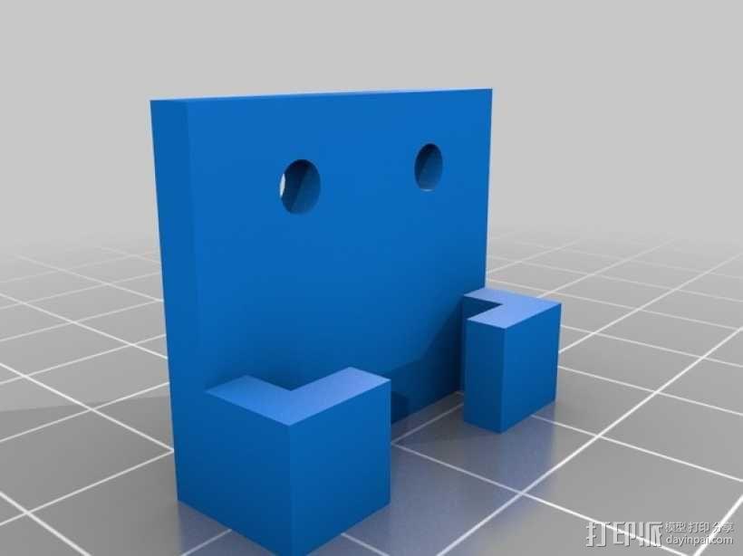 Prusa 打印机光杆固定器 3D模型  图1