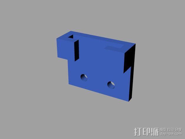 Prusa 打印机光杆固定器 3D模型  图5