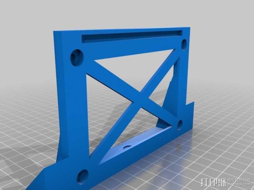 挤出机喷头支架 风扇支架 3D模型  图3