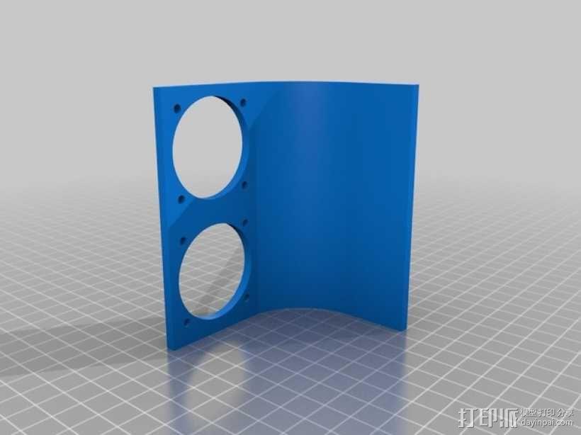 挤出机喷头支架 风扇支架 3D模型  图4