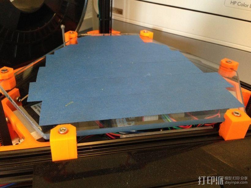 Kossel Mini 打印机玻璃板支撑架 3D模型  图2