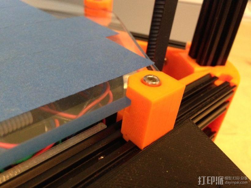 Kossel Mini 打印机玻璃板支撑架 3D模型  图1