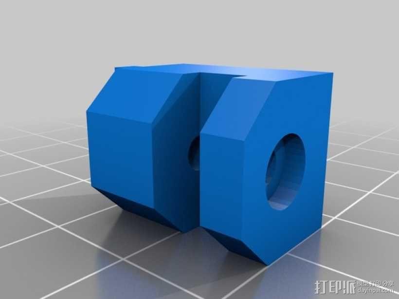 Kossel Mini 打印机玻璃板支撑架 3D模型  图3