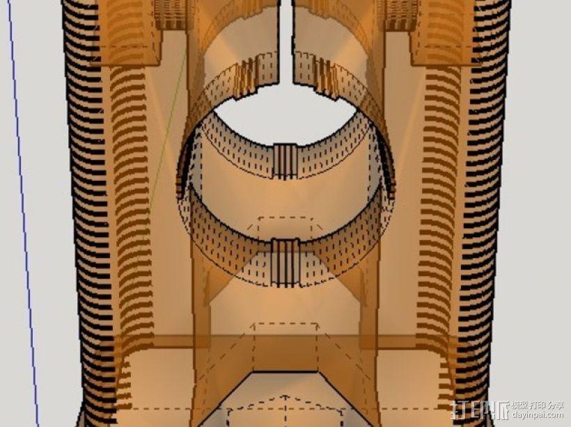 RepRap打印机 挤出机部件 3D模型  图2