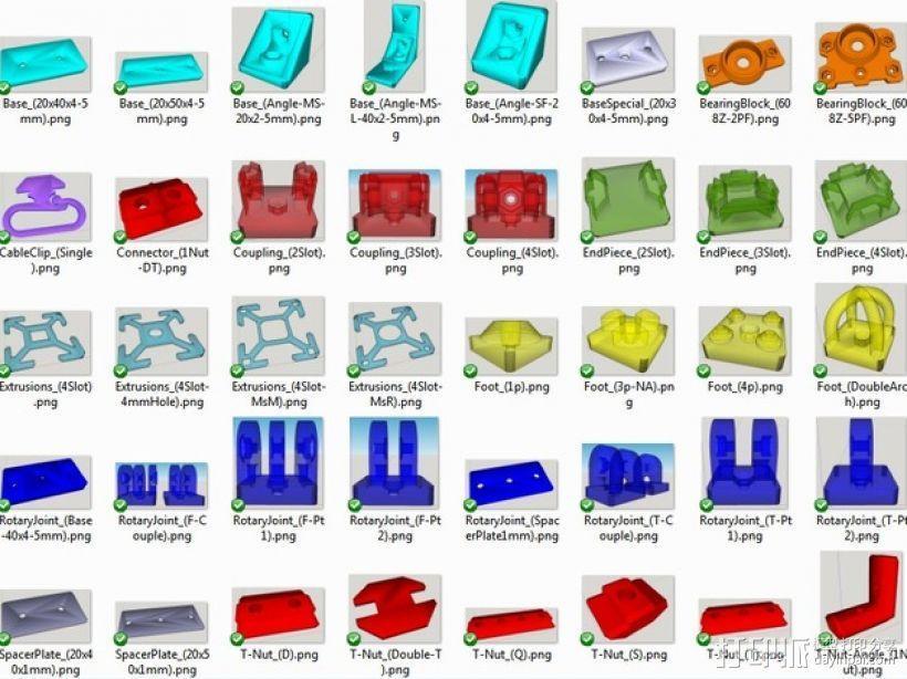 RepRap打印机 挤出机部件 3D模型  图4