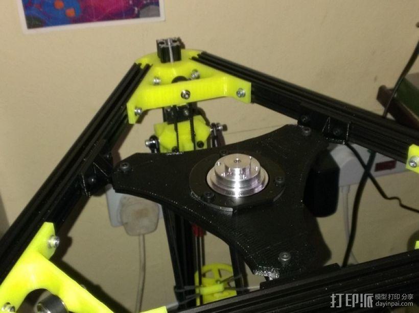 Kossel Mini打印机顶部线轴支架 3D模型  图1